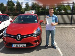 Christopher Slemensek, test pass driving lessons Gloucester