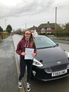 Ella Curtis, driving lessons Gloucester.